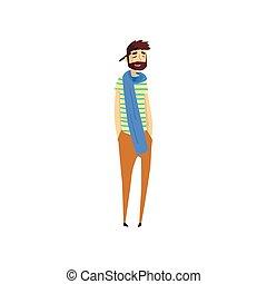 karakter, illustratie, vector, schilder, beroep,...