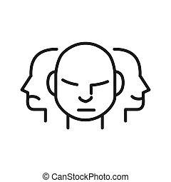 karakter, ontwerp, illustratie, persoonlijkheid