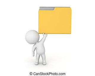 karakter, op, bestand directory, het tilen, 3d