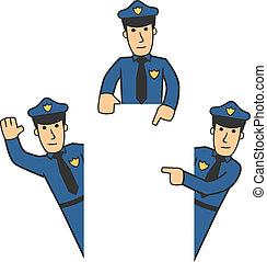 karakter, sæt, 06, politi