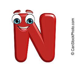 karakter, spotprent, n