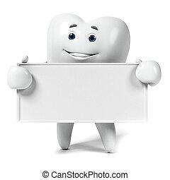 karakter, tand