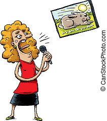 karaoke, śpiewak