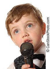 Karaoke boy - child singing