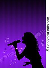 karaoke, cantor