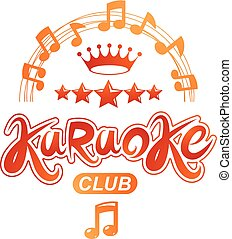 Karaoke club vector background composed with circular...