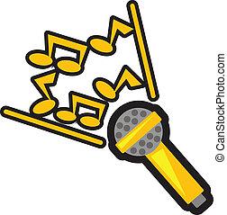 karaoke - illustration of karaoke icon