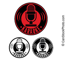 karaoke, mikrofon, symbol
