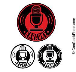 karaoke, mikrophon, symbol