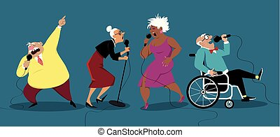 Karaoke night for seniors