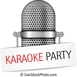 Karaoke Party Banner - Karaoke party banner with a...
