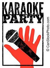 Karaoke party poster.