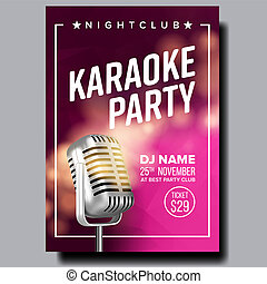 Karaoke Poster . Party Flyer. Karaoke Music Night. Radio...