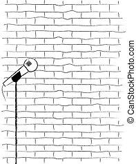Karaoke Poster Sketch. - A karaoke poster sketch on a...