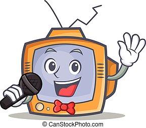Karaoke TV character cartoon object