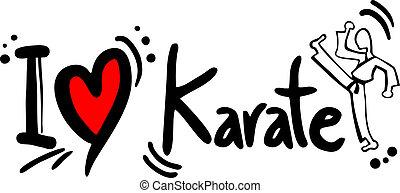 karaté, amour
