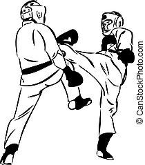 karaté, kyokushinkai, arts, martial, sports