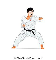 karate, aanval