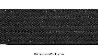 Karate Black Belt - Karate black belt closeup isolated on...