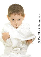 Karate boy arms folded