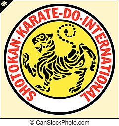 karate, budo, shotokan, japón, tiger.