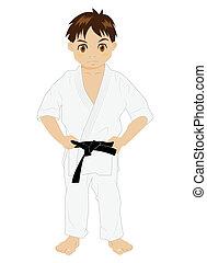 Karate, Chłopiec,  1