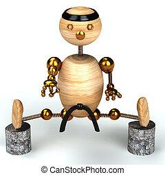 karate, dřevo, voják