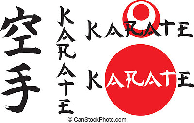 karate - description - japanese calligraphy, combat sports,...