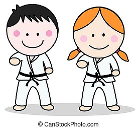 karate, dzieciaki