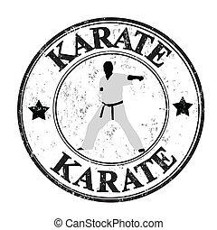 karate, estampilla