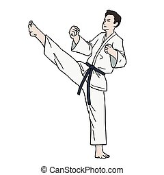Karate fighter isolated - This is a Karate fighter isolated...