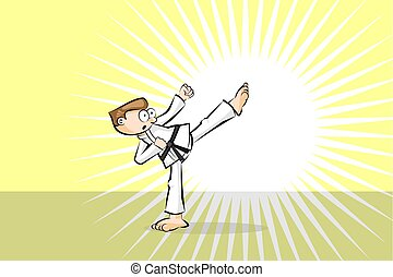 Karate fighter man