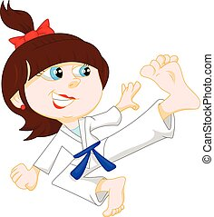 karate girl cartoon