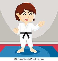 karate girl  illustration design