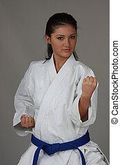 Karate Girl - Beautiful young teen in karate suit