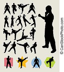 Karate Kick Silhouettes