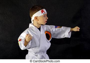 Karate Kid 3 - Child Wearing Karate Outfit (Gee). All Logos...