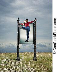 Karate kid billboard