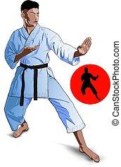 Karate Kid pose
