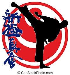 karate kyokushinkai Kokoro kanji - karate shinkyokushinkai...