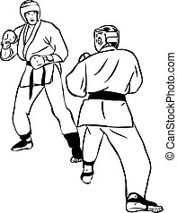 Karate Kyokushinkai  martial arts  sports