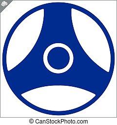 karate kyokushinkan kanji logo simbol design style vector...