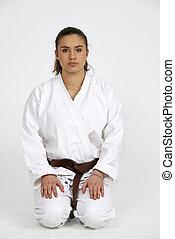karate, leány