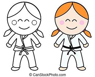 Dibujo Karateca