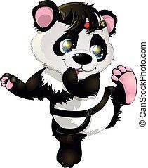 karate, panda