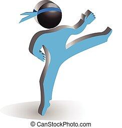 karate, pictogram, vector