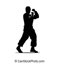 karate player illustration