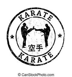 karate, postzegel
