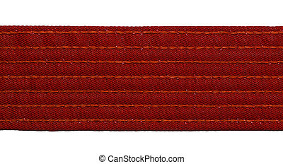 Karate Red Belt - Karate red belt closeup isolated on white...