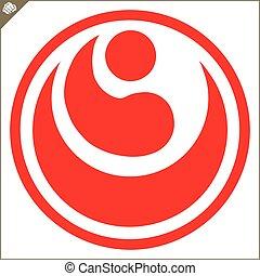karate, shikyokushinkai, kokoro, logotipo